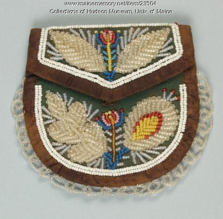 Wabanaki beaded purse, ca. 1870