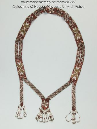 Beadloom necklace, ca. 1910