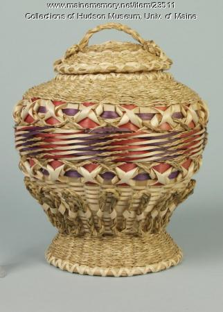 Passamaquoddy fancy basket, 1996
