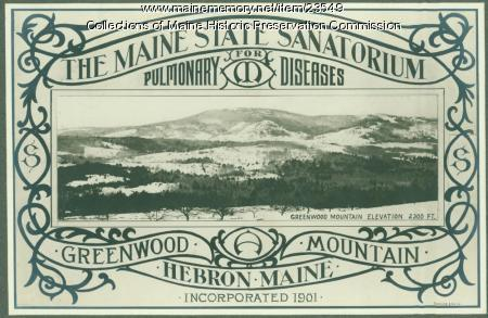 Promotional brochure, Maine State Sanatorium, Hebron, ca. 1909