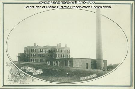 Administration building, power house, Maine State Sanatorium, Hebron, ca. 1909