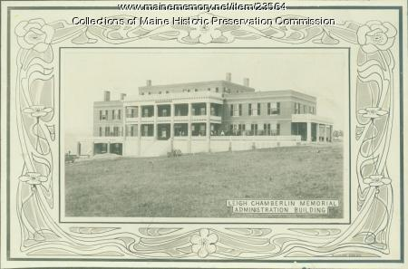 Leigh Chamberlin Memorial building, Maine State Sanatorium, Hebron, ca. 1909