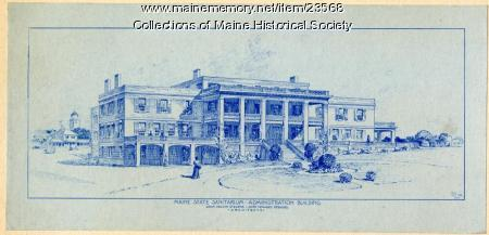 Architect's sketch, Maine Sanatorium, ca. 1904