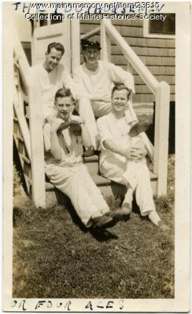 Four patients, Western Maine Sanatorium, 1928