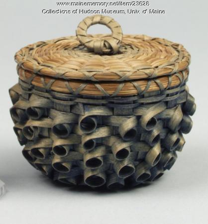 Penobscot button basket by Theresa Lyon Sockalexis, ca. 1934