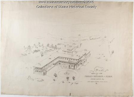 Architectural drawing of proposed sanatorium, Hebron, 1903