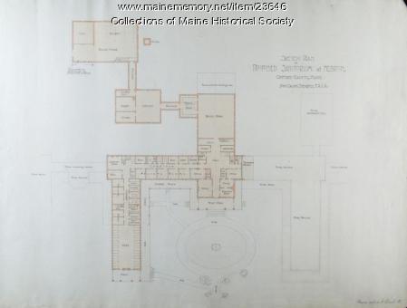 Sketch plan for interior, proposed sanatorium, 1903