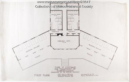 Cottage plan, Maine State Sanatorium, ca. 1904