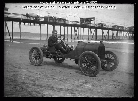 Race car, Old Orchard Beach, ca. 1922