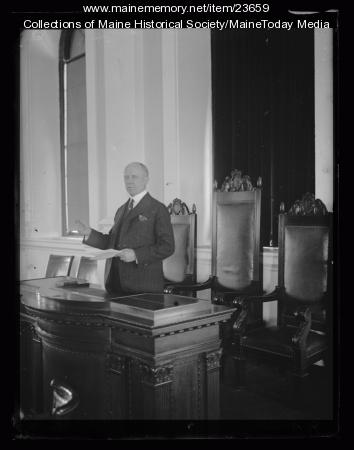 Governor Percival P. Baxter, 1923