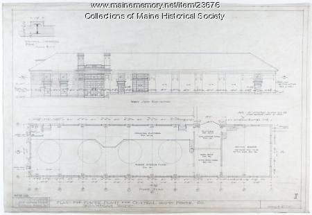 Skowhegan Power Plant plan, 1920