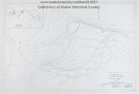 Permanent buildings plan, Passamaquoddy Tidal Power development, 1935