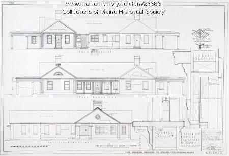 Hospital plans, Passamaquoddy Bay Tidal project, 1935
