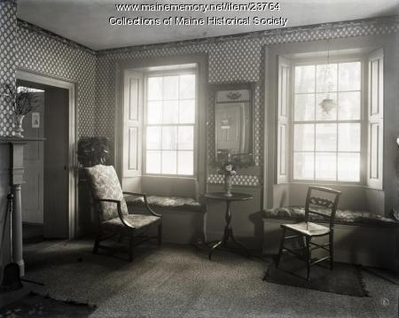 Sitting room, Wadsworth-Longfellow House, Portland, 1902