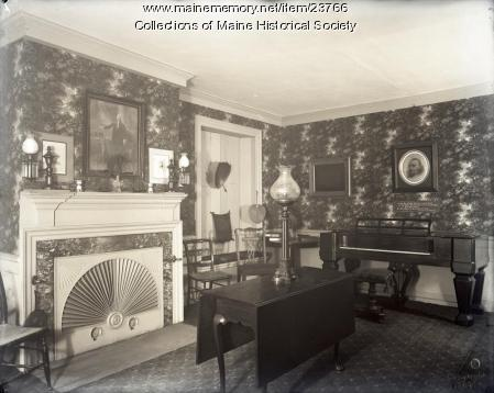 Parlor, Wadsworth-Longfellow House, Portland, 1904