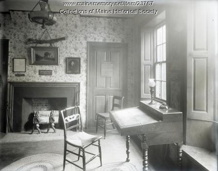 Rainy day room, Wadsworth-Longfellow House, Portland, 1908