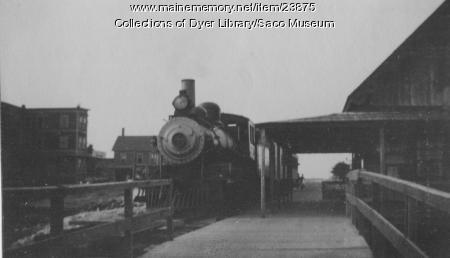 The Dummy Train at Camp Ellis Station, 1915