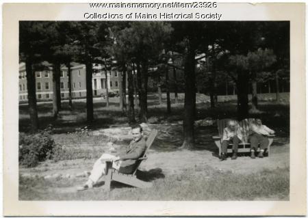Three residents, Pownal State School, ca. 1940