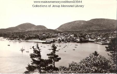 Bar Harbor and Mountains, Mount Desert Island, ca. 1960