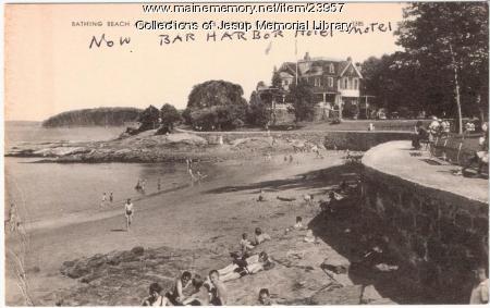 Bathing Beach and Shore Club, Bar Harbor, ca. 1940
