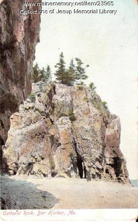 Cathedral Rock, Bar Harbor, ca. 1902