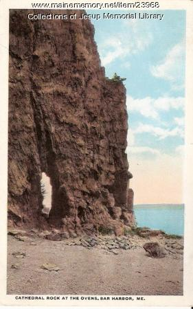 Cathedral Rock at the Ovens, Bar Harbor, ca. 1902