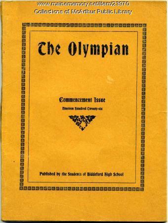 1926 Commencement Issue, Biddeford High School
