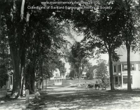 Bandstand & F. H. Townsend Store, Limerick, ca. 1905