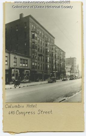 Columbia Hotel, Portland, ca. 1930