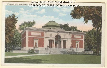 Walker Art Building, Bowdoin College, Brunswick, ca. 1929