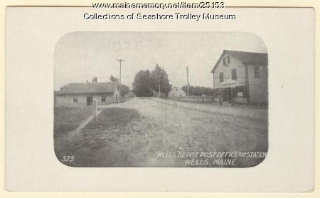 Wells Depot Post Office, Wells, ca. 1910