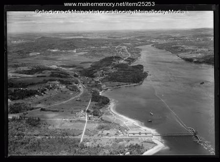Aerial photograph, Stockton Springs, ca. 1930