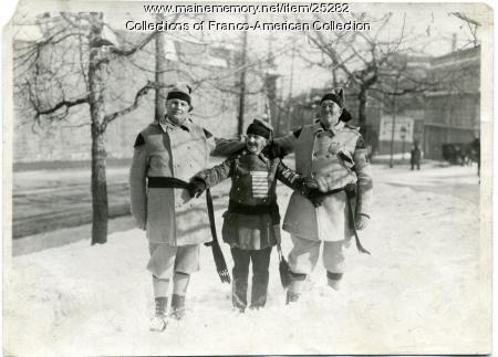 Montagnard Snowshoe Club members, Lewiston, ca. 1930