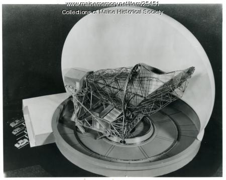 Telstar antenna model, Andover, 1962