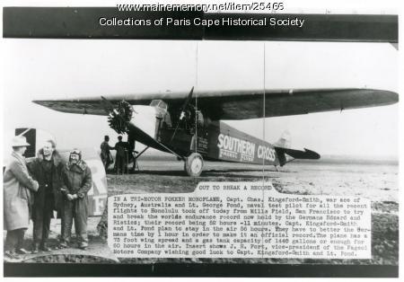 Endurance record effort, San Francisco, 1927