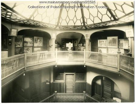 Interior, Maine State Building, Poland Spring, ca. 1900