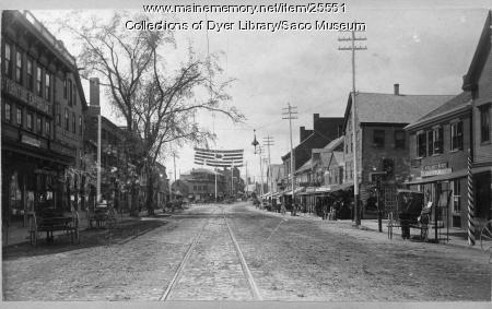 Main Street, Saco, ca. 1900
