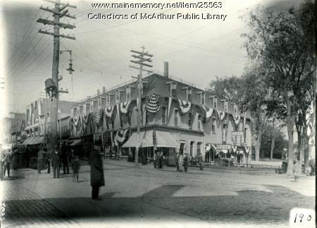 Main and Lincoln streets, Biddeford, 1909