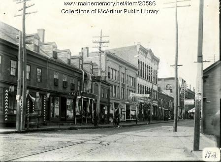 South Side of Main Street, Biddeford, 1909