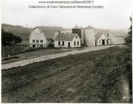 Barns, Valley Farm, New Gloucester, ca. 1937