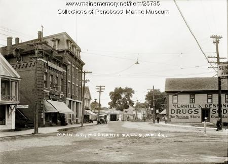 Main Street, Mechanic Falls, ca. 1925