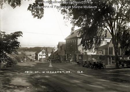 Main Street, Wiscasset, ca. 1925