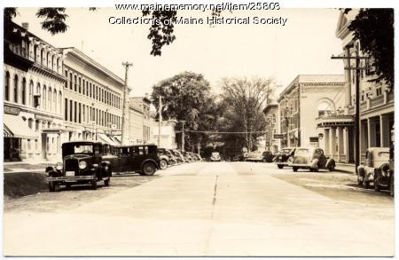 Main Street Thomaston, ca. 1940