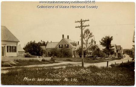 Main Street, West Jonesport, ca. 1915