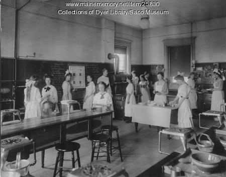 Domestic Science Class, Saco, ca. 1912