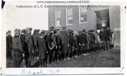Good Will Farm students, Fairfield, 1919