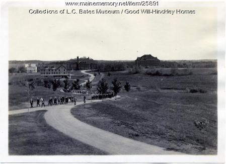 Student parade, Good Will Farm, ca. 1930