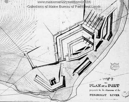 Fort Knox plans, ca. 1842
