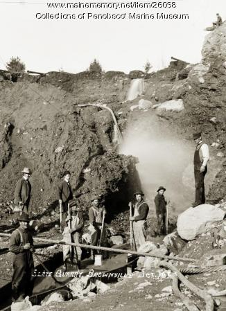 Slate quarry, Brownville Junction, ca. 1910