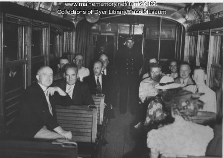 Trolley, Saco, July 5, 1939